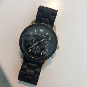 Michael Kors Watch Black & Gold